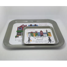 (BC-TM1018) Hot-Sell High Quality Reusable Melamine Serving Tray