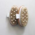 Boar Bristles Bamboo Brush for Shower Massage