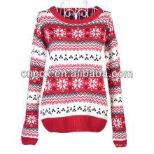 13STC5352 Art und Weisedamen strickten Weihnachtsstrickjackekleid