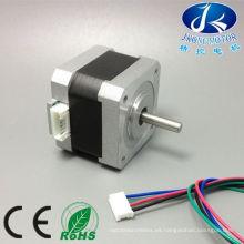 Certificación 2 fases y CE nema 17 Motor paso a paso híbrido con eje D
