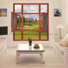 Fenêtre en aluminium pour bâtiment commercial et résidentiel (FT-W55)