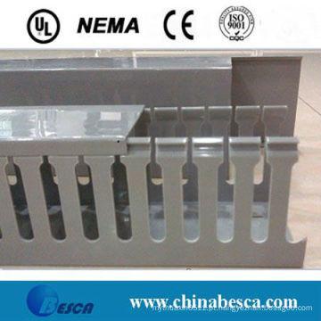 Pista de fio de PVC com ranhuras brancas / cinzas (UL, IEC, SGS e CE)