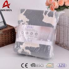 Qualidade superior dupla face jacquard sherpa coral cobertor de lã