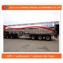 Reboque De D′aluminium De Citerne De Carburant Semi-Remorque En Alliage