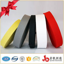 Nonelastic edge tape band webbing for bag straps