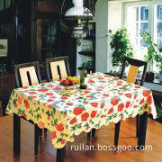 PVC Nonwoven Flower Design Table Linen, Easy to Clean and Carry