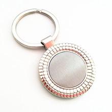 Porte-clés en métal rond bon marché personnalisé avec logo (F1128)