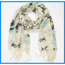 Печатный длинный женский кашемировый шарф