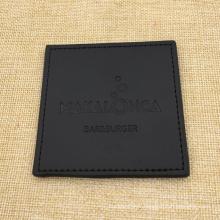 Personnalisé logo noir PU cuir véritable tasse Bar napperon Coaster
