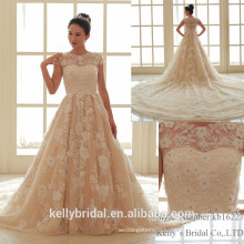 2017 bridal beading lace the latest skirt with train wedding dresses