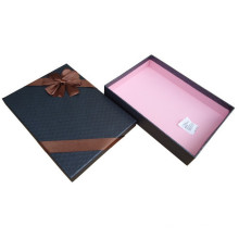 Caixas de papelão pretas para camisas de embalagem com arco