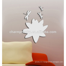 wholesale flower&dragonfly wall sticker removable wall sticker QTS027