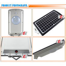 Luminaire solaire intégré de réverbère du vent LED de 10 watts LED