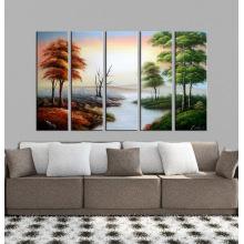 Peinture à l'huile de paysage moderne et magnifique sur toile