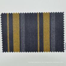 tela de lana virgen para la banca uniforme panel de rayas