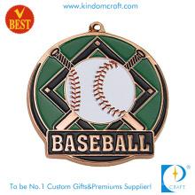 Producto de encargo de Intech de la medalla de béisbol 3D del barniz para hornear de encargo en alta calidad