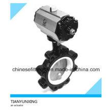 Пневматический клапан-бабочка с пневматическим приводом DIN