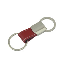Personalizado função puxar couro titular com chaveiro (f3062)