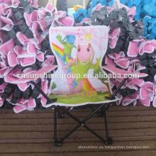 Barato tela dibujos animados niño silla, silla de campo