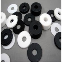 Arandelas de nylon planas de plástico negro blanco claro a medida
