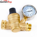 GUTENTOP Water Regulator Valve- Lead Free Brass Adjustable Pressure Regulator With Pressure Gauge and Water Filter Net