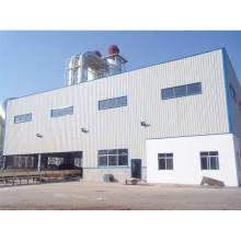 Construção de oficina de armação de metal estrutural de aço