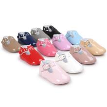 Moda PU Infantil Criança Mocassim Macio Sole Bebê Anti-Slip Loafer