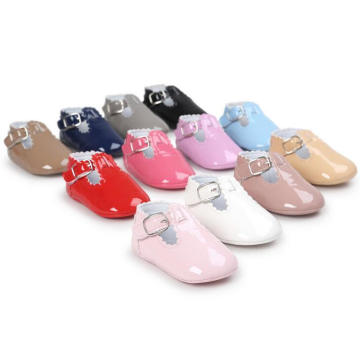 Fashion PU Infant Toddler Moccasin Soft Sole Baby Anti-Slip Loafer