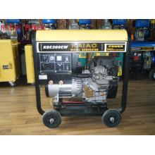 Générateur de soudeur diesel à double phase monophasé 3kw / cc 300A