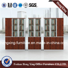 Modern Melamine File Cabinet with Glass Doors (HX-GA0016)