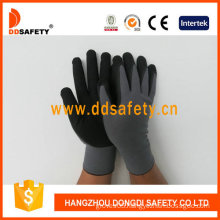 Grey Nylon Black Nitrile Glove Dnn153