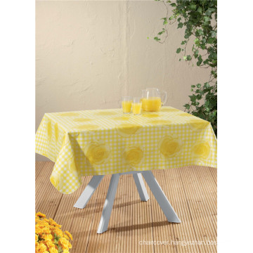 Factory Wholesale Fabric Backing PVC Cheap Round Printed Pattern Tablecloth