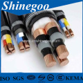 Fluoroplastic insulated PVC sheathed steel tape armoured power cable