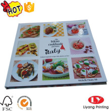 Color hardcover cook book printing with glossy
