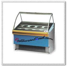 R055 Armario de exhibición del helado del acero inoxidable del buffet