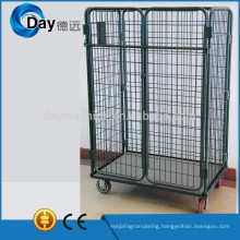 HM-8A steel laundry basket cart with 2 doors, no lid, no clapboard, bear 500kgs