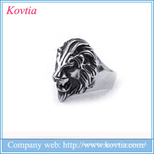 popular 2016 men lion ring titanium steel lion rings for men