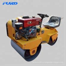 Вспомогательный ролик с водяным охлаждением и дизельным двигателем 1 тонны с тандемными вибрационными барабанами 700 мм (28 дюймов) (FYL-850S)
