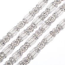 New design  bling bling bridal sash belt trims chain off-white based RH1000