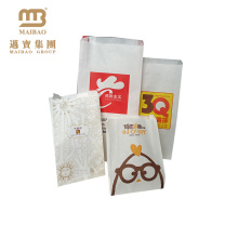 Custom Sharp Bottom Greaseproof Food Grade French Fries Packaging Paper Bags For Fast Restaurant