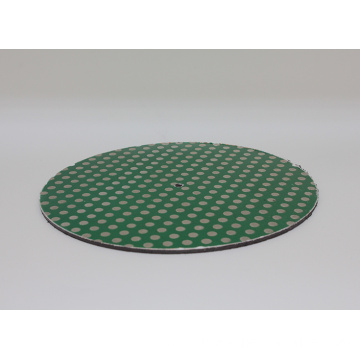 12inch Diamond Lapidary Glass Ceramic Porcelain Magnetic Dot Pattern Grinding Flat Lap Disk