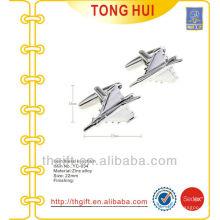 Metal Avión / avión / aeroplano gemelos para acabado plateado