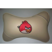 PU Car Neck Pillow with Embroidery Picture or Logo