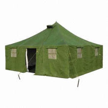 Military tent, used in military army, camping, refugee camp, or rescue center
