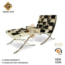 Cadeira Barcelona de lazer couro pônei (GV-BC01)
