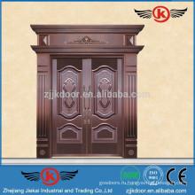 JK-RC9202 Реальная медная дверь Роскошная передняя часть дома