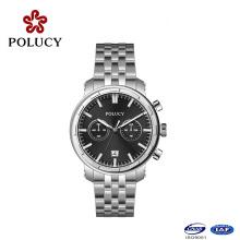 Metal acero inoxidable caso reloj para hombres y mujeres