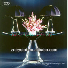 K9 Crystal Table y lámpara de mesa