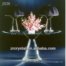 K9 mesa de cristal e abajur