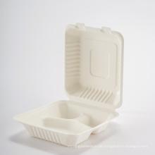 Umweltfreundliche Einweg-Lebensmittel-Lunchbox aus Papier